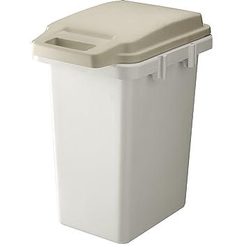 リス ゴミ箱 ワンハンドパッキンペール ベージュ 33L H&H 日本製 33JS
