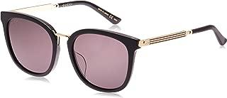 Gucci Square Women's Sunglasses - GG0079SK-001-56-19-145 mm
