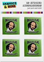 GRAPHICS & MORE William Bakespeare Shakespeare Getting Baked Funny Humor Computer Case Modding Badge Emblem Resin-Topped 1
