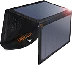 شاحن بالطاقة الشمسية من شو تيك بقدرة 19 واط ومنفذي يو اس بي وخاصية البحث عن الاجهزة المجاورة كاجهزة سامسونج، اي باد، ايفون، وغيرها.