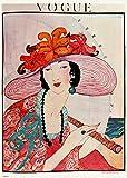 onthewall Vintage Vogue Helen Dryden Hat Poster Kunstdruck