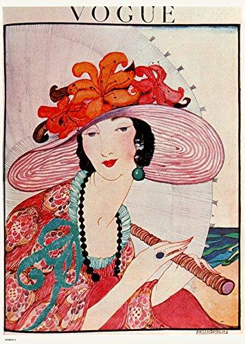 Póster vintage Vogue Helen Dryden sombrero