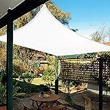 HAIKUS Toldo Vela Rectangular 2x3 m, Vela de Sombra 3x2 m PES, Impermeable, Resistente, 95% Protección Rayos UV para Exterior, Jardín, Terrazas (Blanco)