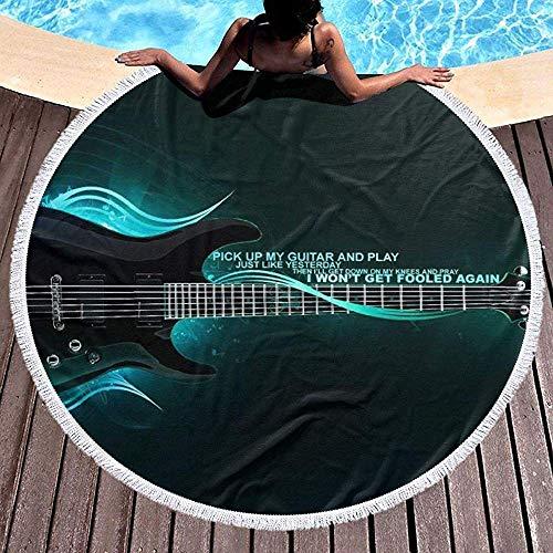 Nazi Mie Runde Strandtuchdecke Hebe Meine Gitarre auf und Spiele am Strand Werfe große Strandtücher Picknick-Teppichmatte