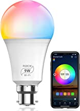 HaoDeng WiFi LED Smart Bulb - Dimmable, Multicolor, Tunable White (Color Changing Disco Ball Lamp) - 9W A19 B22(80W Equiva...