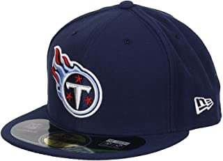 NFL Mens Tenessee Titans On Field 5950 Navy Game Cap By New Era