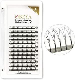Premade Volume Eyelash Extensions .07 D Curl 3D Volume Lashes 9-16mm Mixed Trays Long Stem Russian Volume Eye Lash Extension