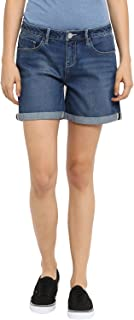 KVL Women's Regular Fit Denim Shorts - (Blue)