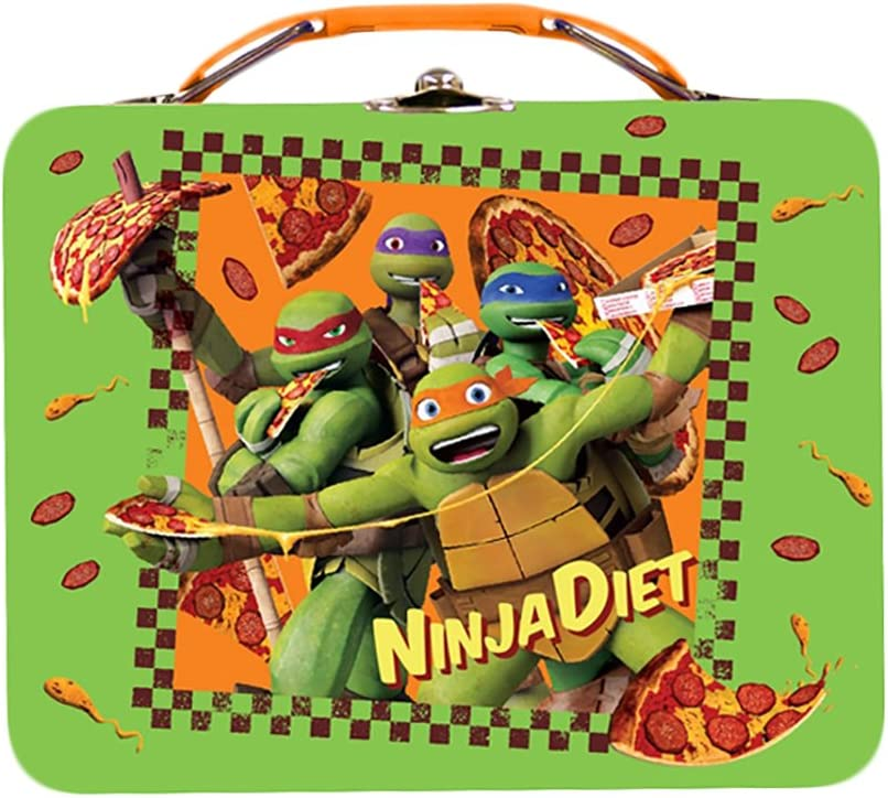 The Special price for a limited time Tin Box Company Large Carry Ninja Las Vegas Mall Lunchbox Die All TMNT