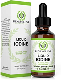 Liquid Iodine Potassium Drops - 1300 Servings | Large 2oz Bottle | Great Taste | 2X Absorption | Just One (1) Drop a Day f...