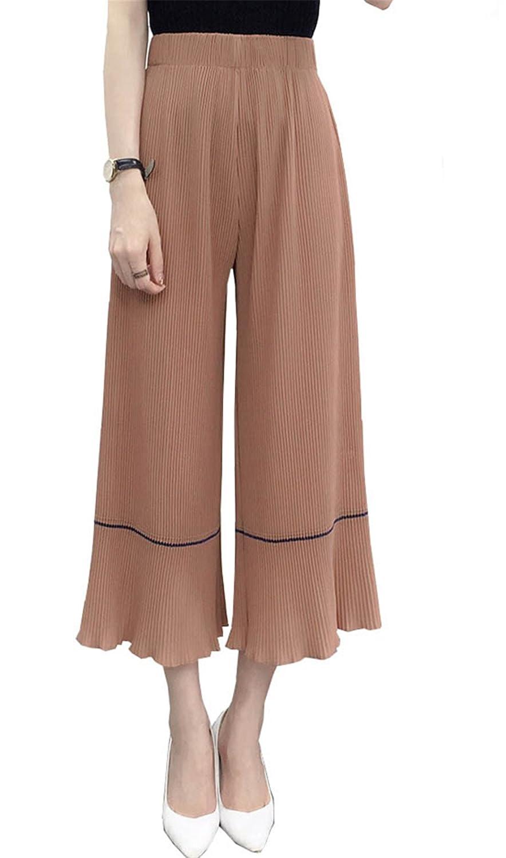 [美しいです] レディース 女性 ワイドパンツ 七分丈パンツ 夏 ゆっくり 流行る 青春 無地