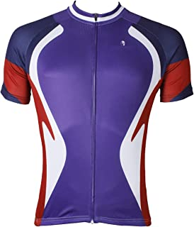 ZiWen Lu Outdoor Men's Professional Riding Clothes Summer Ultra-Thin Breathable Windproof (Color : Purple, Size : XXXL)
