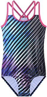 TFJH E Gymnastic Leotards for Girls Athletic Ballet Apparel Practice Outfits Cross Strap