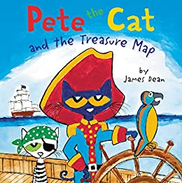Pete the Cat and the Treasure Map by [James Dean]