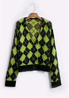 LJLLINGA Knitted Cardigans Women Sweaters Kawaii Mohair Sweater Winter Sweater Clothes New