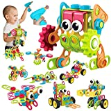 HAPTIME 223 PCS STEM Toys Building Blocks with Toy Drill, Creative Construction Engineering Learning Set for 3 4 5 6 7 8 9 10 Year Old Boys and Girls, Educational Toys Gift for Birthday Christmas