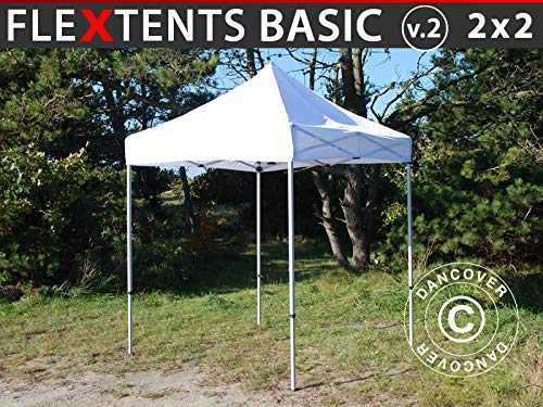 Dancover Vouwtent/Easy up tent FleXtents Basic v.2, 2x2m Wit