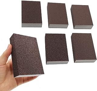 6Pcs Wet Dry Sanding Sponges, 60 80 100 120 180 220 Grit Sanding Pad Assortment, Washable and Reusable by BAISDY