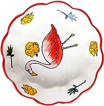 VALICLUD Ceramic Bowl Floral Soup Bowl Fruit Dessert Appetitzer Bowl Food Serving Bowl For Soup Salad Pasta Rice Fruit Noo...