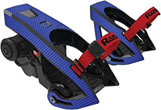 MightySkins Skin Compatible with Razor Turbo Jetts Electric Heel Wheels - Blue Carbon Fiber | Protective, Durable, and Unique Vinyl wrap Cover | Easy to Apply, Remove | Made in The USA