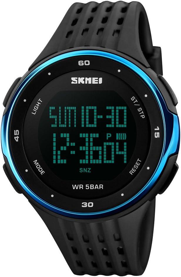 Zhanbinjin Men's Sports Shipping included Max 86% OFF Watch Outdoor Wa 50m Waterproof Digital