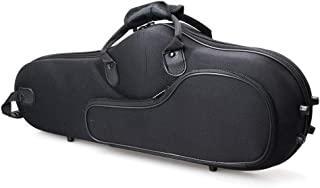 TimmyHouse Saxophone Case Solid Cloth Hard Shell New Black for Alto Sax