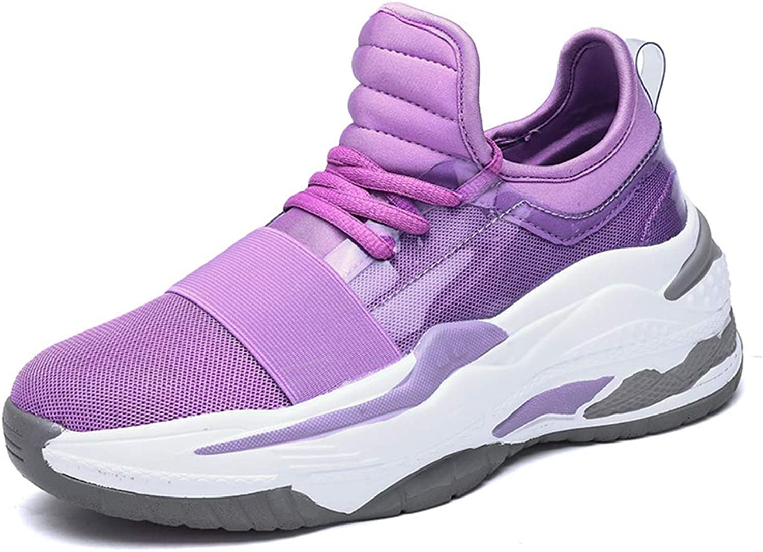 Women's Sneakers Low-Top Casual shoes 2019 New Breathable Mesh Platform shoes Travel shoes, Non-Slip Running shoes,B,38