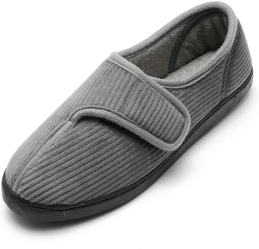 返品不可 Git-up Diabetic Slippers Shoes for 販売期間 限定のお得なタイムセール Adjustabl Edema Men Arthritis