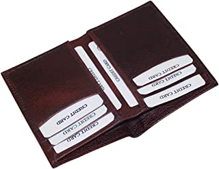 Style98 Premium Leather Bifold Wallet Debit Credit Card Holder Brown