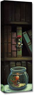 Disney Fine Art Dropping in by Rob Kaz Treasures on Canvas Pinocchio Jiminy Cricket Reproduction Gallery Wrapped Giclée on Canvas Wall Art