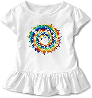 Philippine Eagle Toddler Baby Girls Short Sleeve Ruffle T-Shirt