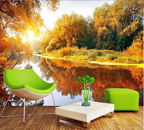 Free Shipping Romantic Warm And Picturesque TV Background Wall Custom 3d Mural Living Room HD Wallpaper Autumn Scenery Wallpaper350*245cm