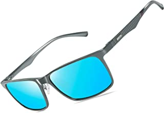 Mens Polarized Driving Sunglasses For Mens Women Al-Mg Metal Frame Lightweight Fishing Sports Outdoors