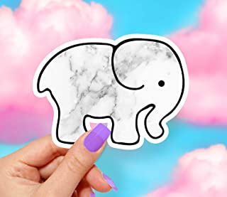 Marble Elephant Sticker - Pack of 2