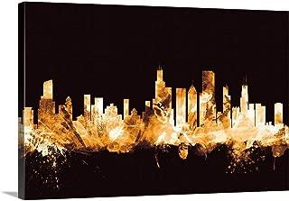 Chicago Illinois Skyline Canvas Wall Art Print, 18