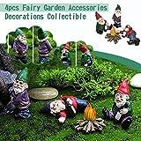 Cerlemi Fairy Garden Dekoration Baby Zwerge Garten Gartenzwerg Figuren Gnomes als Mitbringsel oder Geschenk Innenhof-Harz-Farbe Niedliche Handwerks-Zwerg-Verzierungen Goblin Dwarf Bonfire Party Set