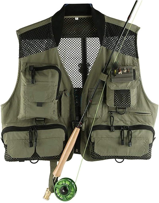 JESSIEKERVIN YY3 YY3 YY3 Angelweste Rucksack Einstellbare Größe Fliegenfischer Weste Pack für Gerät und Ausrüstung Beinhaltet Wasser Blase und Wasserdichte Handytasche B07K7JPW8R  Zart b91127