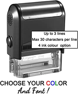 Personalized Stamp-Custom Stamp Self Inking Rubber Stamp,Return Address Stamp with up to 3 Lines of Custom Text