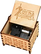 YouTang The Legend of Zelda Music Box 18 Note Windup Clockwork Mechanism Engraved Wood Music Box,Play Song of Storms from Ocarina of Time,Brown