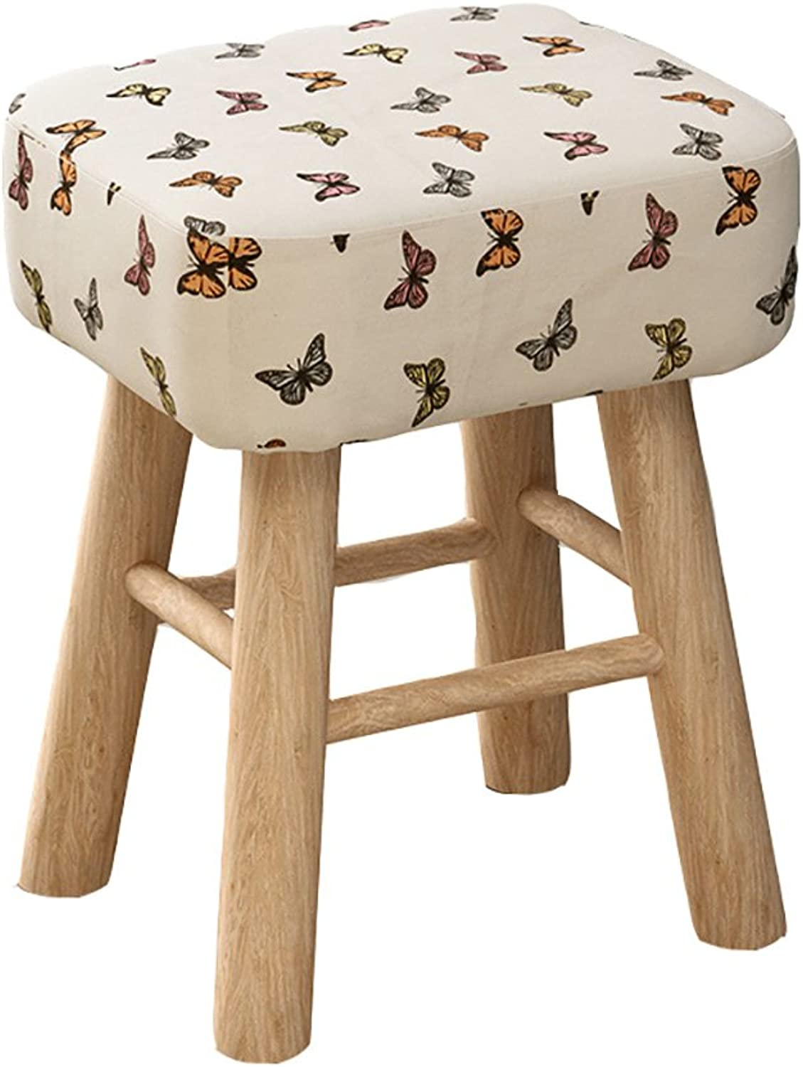 WY Solid Wood Stool shoes for The Fashion Stool Creative shoes Stool Sofa Stool Small Stool Stools Furniture (color   B, Size   35  30  43cm)