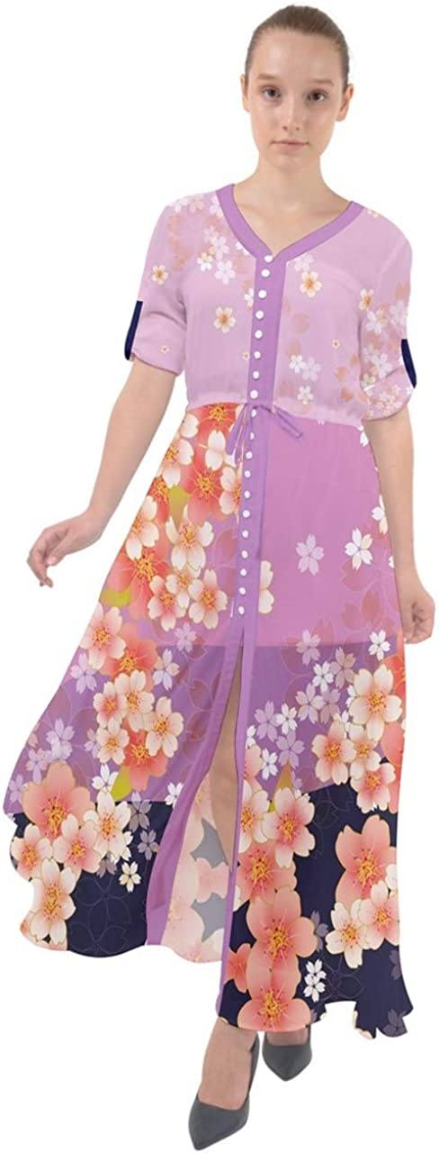 CowCow Womens Japanese Style El Paso Mall Cherry Blossom Flowers Floral Crane OFFicial site