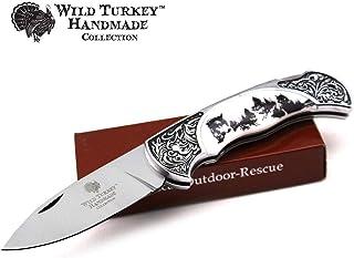 Wild Turkey Handmade Collection Old Fashioned Two Tone Lock Back Folding Knife (White)