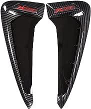 Xdrive Carbon Fiber Shark Gills Side Decoration Fender Vent Trim For BMW X5 F15 X5M F85 14-17(red)