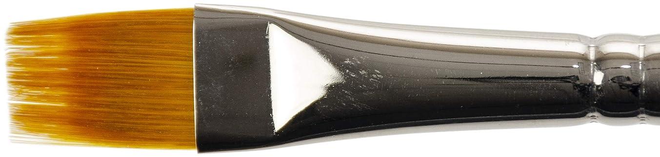 KINGART Original Gold 9120-1/2, Premium Artist Brush, Golden TAKLON Flat RAKE-Size: 1/2, Black