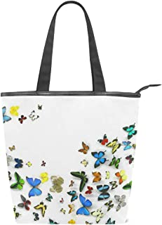 MALPLENA Malpela Schultertasche für Damen, Schmetterlingsmotiv, für die Arbeit