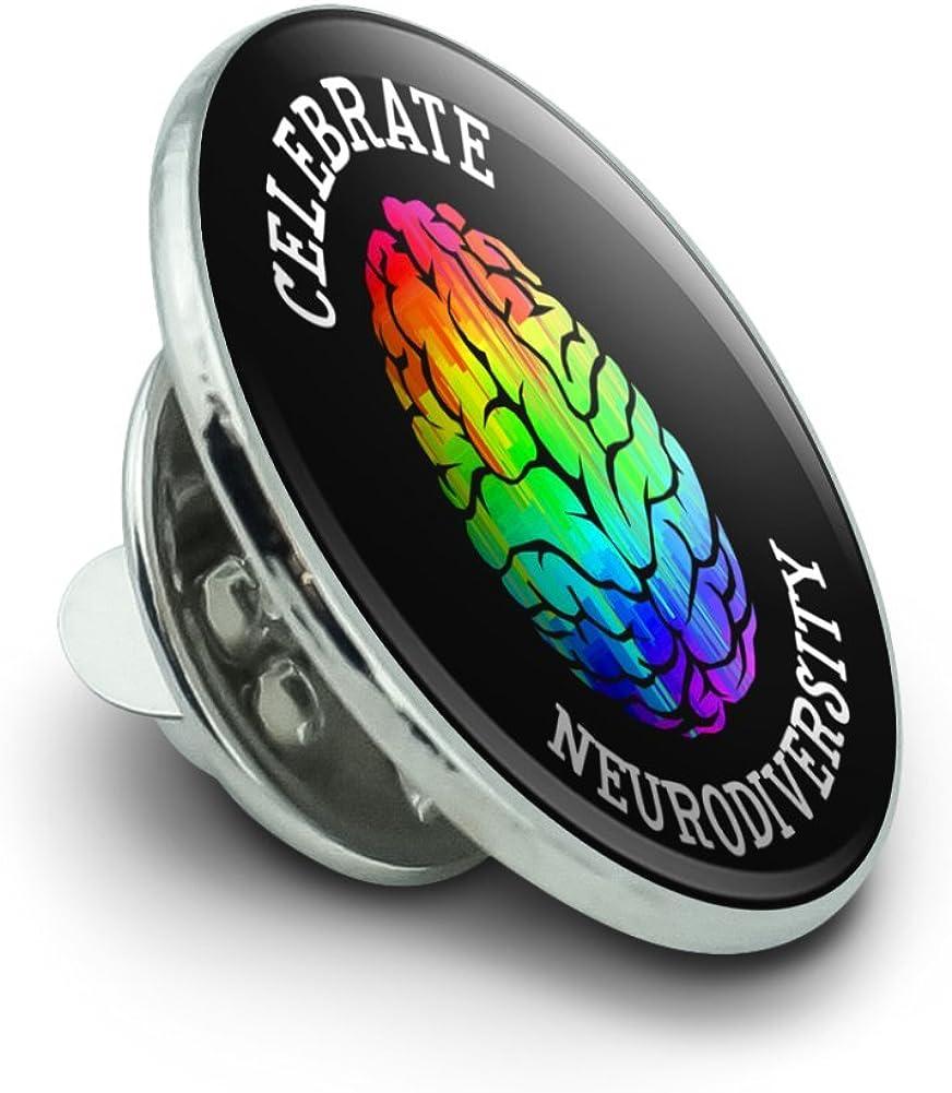 GRAPHICS & MORE Celebrate Neurodiversity Brain Autism Rainbow Spectrum Metal 0.75