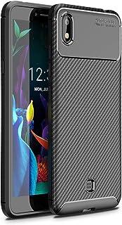 حالات LG For LG K20(2019)Beetle Series Carbon Fiber Texture Shockproof TPU Case(Black) حالات LG (Color : Black)