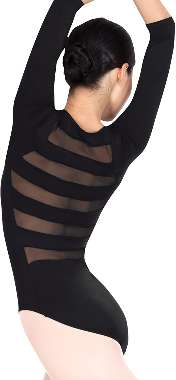 Adult 3 4 Sleeve Striped Back Leotard N8678
