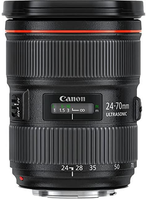Canon EF 24-70mm f/2.8L II USM - Objetivo para Canon (Distancia Focal 24-70mm Apertura f/2.8-22 Zoom óptico 3Xdiámetro: 82mm) Negro