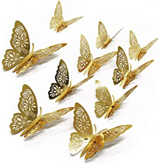 FOMTOR 3D Butterfly Wall Stickers Butterfly Wall Decals for Home Decor DIY Butterflies..